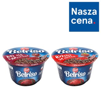 Zott Belriso Choco Milk Dessert Chocolate Flavoured with Rice and Cherry Sauce 200 g