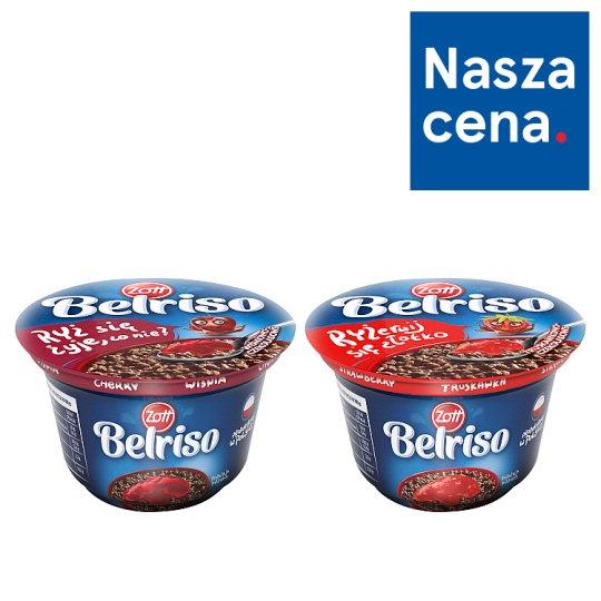 Zott Belriso Choco Deser mleczny o smaku czekoladowym z ryżem i sosem wiśniowym 200 g