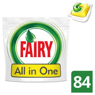 Fairy All In One Dishwasher Tablets Lemon 84 per Pack