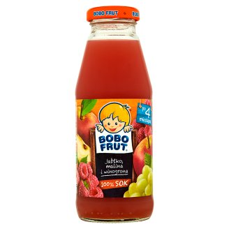 Bobo Frut Apple Raspberry and Grapes after 4 Months Onwards 100% Juice 300 ml