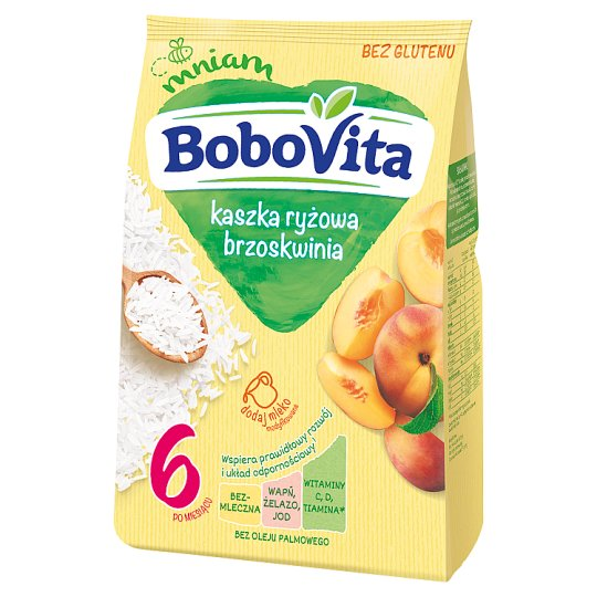 BoboVita Rice Porridge Peach Flavour after 4 Months Onwards 180 g