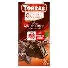 Torras Dark Chocolate with Cocoa Nibs Sugars Free 75 g