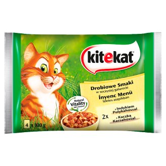 Kitekat Poultry Cat Food in Jelly Complete Food 4 x 100 g