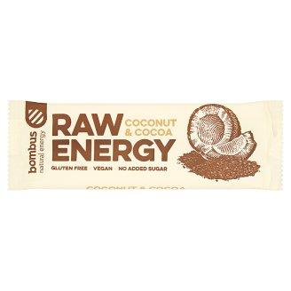 Bombus Raw Energy Coconut & Cocoa Fruit Bar 50 g
