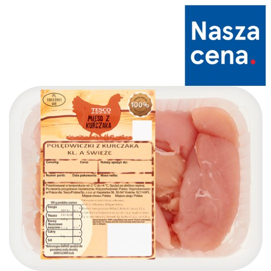 Tesco Chicken Tenderloins 500 g
