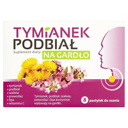 Thyme Coltsfoot Throat Dietary Supplement 8 Pastilles