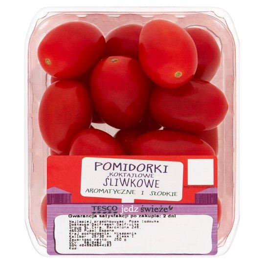 Tesco Pomidorki koktajlowe śliwkowe 250 g