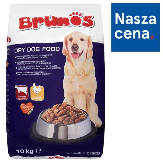 Brunos Beef and Poultry Flavour Complete Pet Food for Adult Dogs 10 kg