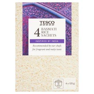 Tesco Ryż długoziarnisty biały Basmati 500 g (4 torebki)