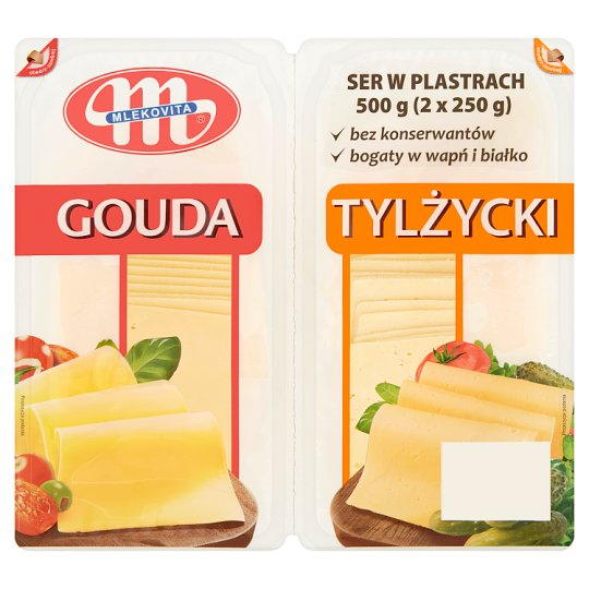Mlekovita Gouda Ser w plastrach 250 g i Tylżycki Ser w plastrach 250 g
