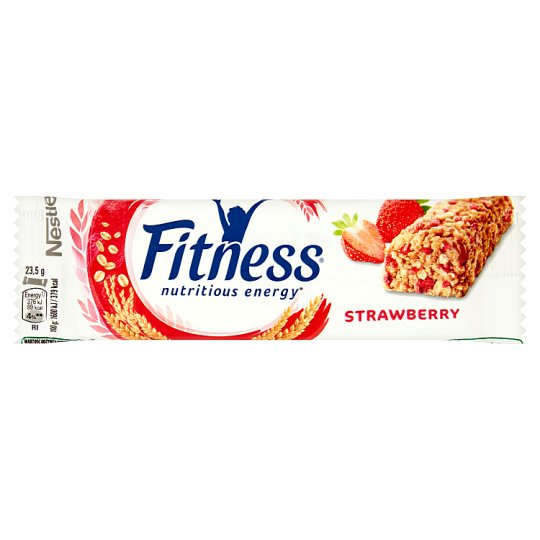 Nestlé Fitness Strawberry Batonik zbożowy 23,5 g