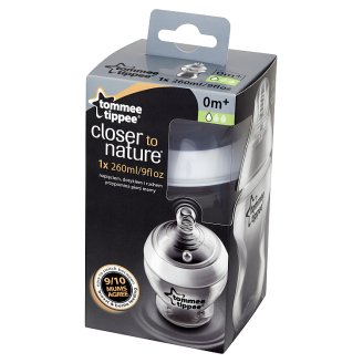Tommee Tippee Closer to Nature Bottle with Slow Flow Teat for Children from 0 Month 260 ml