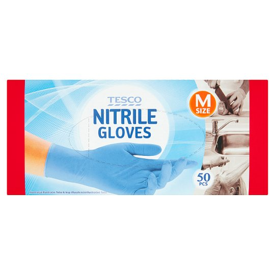 Tesco Nitrile Gloves M 50 Pieces