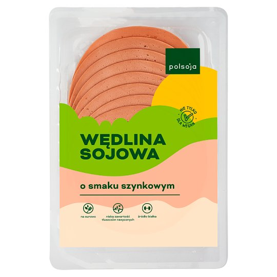 Polsoja Ham Flavour with Green Pepper Soy Sausage 100 g