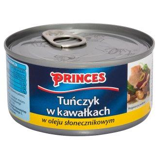 Princes Tuńczyk w kawałkach w oleju słonecznikowym 185 g