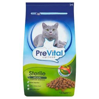 PreVital Sterile Complete Pet Food for Adult Sterilized Cats 1.6 kg