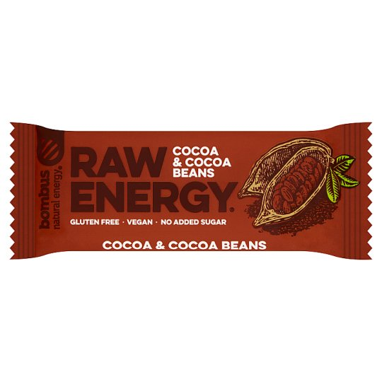 Bombus Raw Energy Cocoa & Cocoa Beans Fruit Bar 50 g