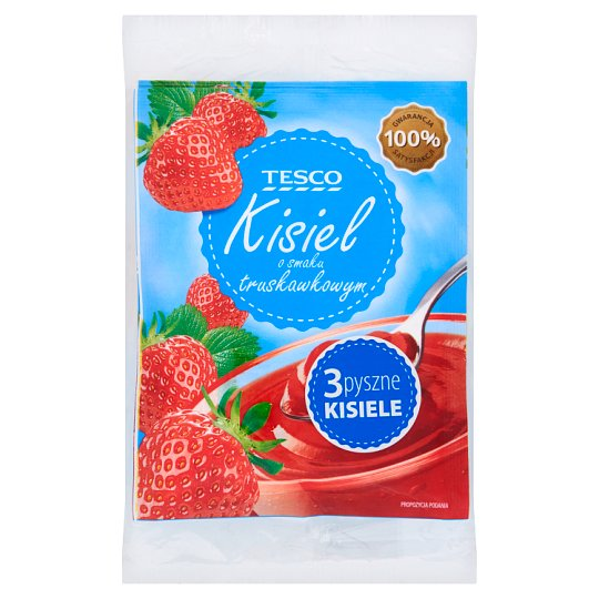 Tesco Strawberry Flavour Soft Jelly 3 x 38 g