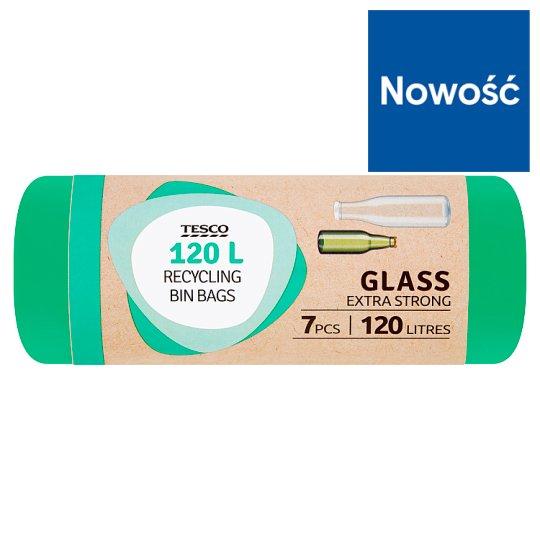 Tesco Glass Extra Strong Worki na śmieci 120 l 7 sztuk
