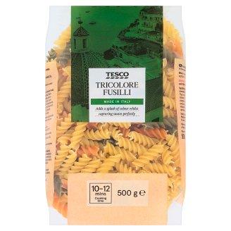 Tesco Classic No Egg Italian Tricolor Fusilli Pasta 500 g