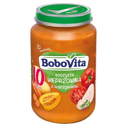 BoboVita Juicy Pork with Vegetables after 10 Months Onwards 190 g