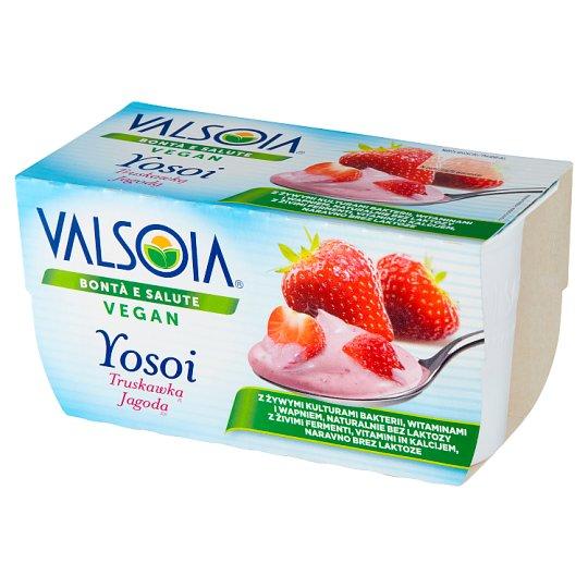 Valsoia Yosoi Truskawka Roślinny produkt sojowy 250 g (2 sztuki)
