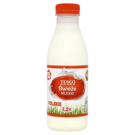 Tesco Świeże mleko polskie 3,2% 500 ml
