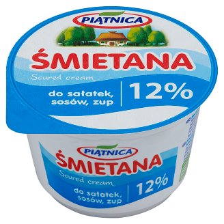 Piątnica 12% Fat Salad Sauces and Soup Soured Cream 200 g
