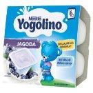 Nestlé Yogolino Deserek mleczno-owocowy jagoda po 6 miesiącu 400 g (4 x 100 g)