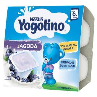 Nestlé Jogolino Deserek mleczno-owocowy jagoda po 6 miesiącu 400 g (4 x 100 g)