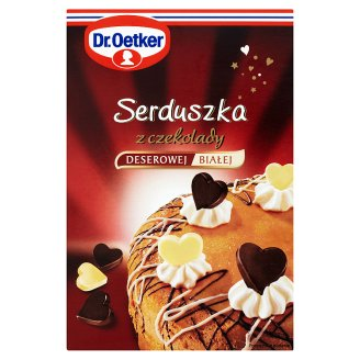 Dr. Oetker Dessert and White Chocolate Hearts Cake Decoration 45 g (72 Pieces)