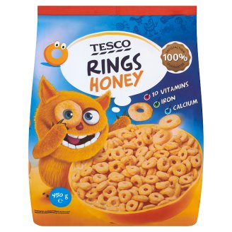 Tesco Round Cereal with Honey, Vitamins, Calcium and Iron  250 g
