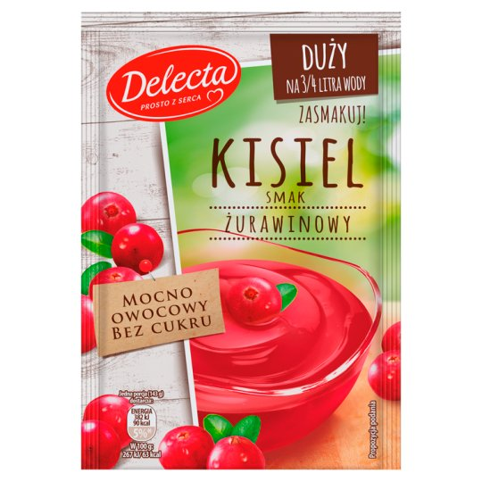 Delecta Cranberry Flavoured Soft Jelly 58 g