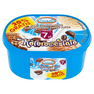 Koral Kolorowe Lato Chocolate-Cream-Caffe Latte Ice Cream 1.2 L