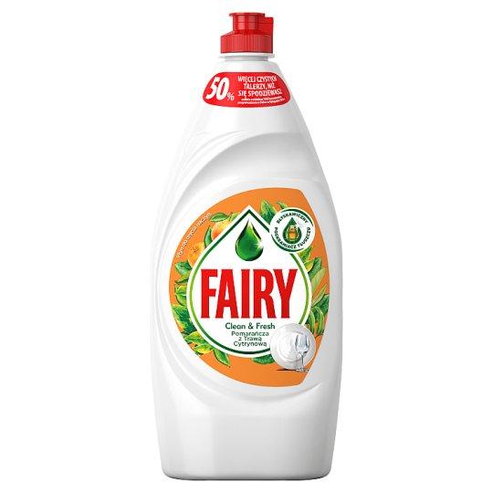 Fairy Washing Up Liquid Orange & Lemongrass 900ml