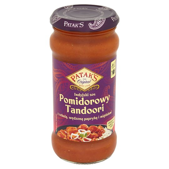 Patak's Tomato Indian Sauce Tandoori with Onion Smoked Paprika and Almonds 350 g