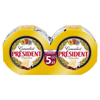 Président Camembert Natural Cheese 180 g (2 Pieces)