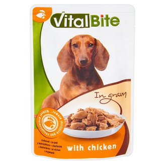 VitalBite Pet Food for Dogs with Chicken in Gravy 85 g