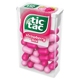 Tic Tac Strawberry Mix Flavoured Sugar Coated Sweets 18 g