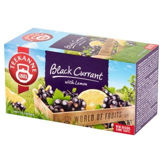 Teekanne World of Fruits Black Currant with Lemon Flavoured Fruit Tea 50 g (20 x 2.5 g)