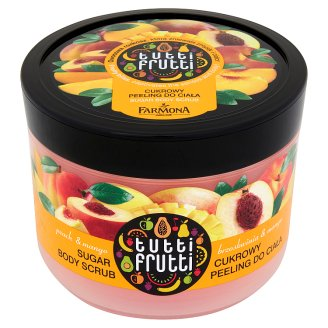 Farmona Tutti Frutti Peach & Mango Sugar Body Scrub 300 g