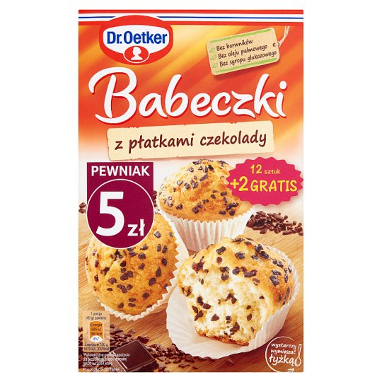 Dr. Oetker Muffins with Chocolate Chunks 347 g