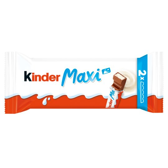 Kinder Chocolate Maxi Candy Bar of Milk Chocolate with Milk Filling 2 x 21 g