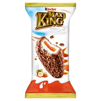 Kinder Maxi King Wafer with Milk and Caramel Filling Covered with Milk Chocolate and Hazelnuts 35 g