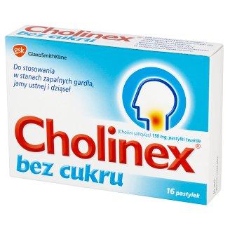 Cholinex bez cukru 150 mg Pastylki twarde 16 pastylek