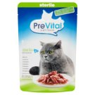 PreVital Naturel Pouch Fillets with Salmon in Gravy Food for Sterile Adult Cats 85 g