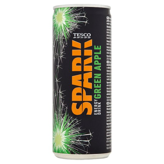 Tesco Spark Green Apple Energy Drink 250 ml