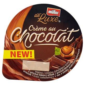 Müller de Luxe Krem czekoladowy + sos o smaku orzechów laskowych 150 g
