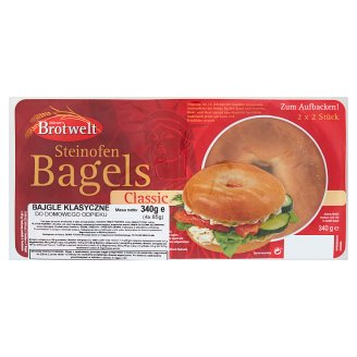 Aldente's Brotwelt Classic Bagels for Home Baking 340 g (4 Pieces)