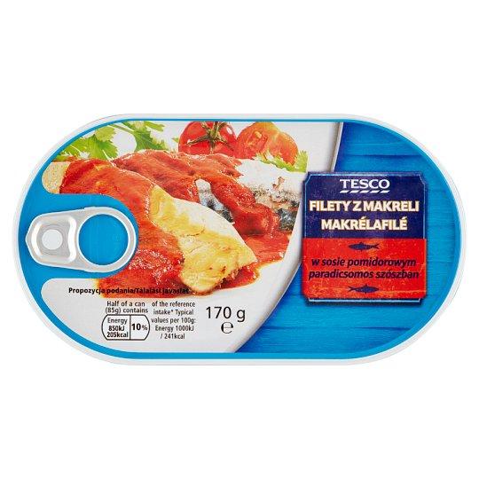 Tesco Mackerel Fillets in Tomato Sauce 170 g